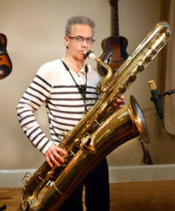 Pete Thomas - Promo Shot Bass Saxophone